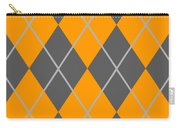 Argyle Diamond With Crisscross Lines In Pewter Gray T03-p0126 Carry-all Pouch