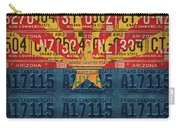 Arizona State Flag Vintage License Plate Art Carry-all Pouch