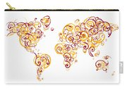 Arizona State University Colors Swirl Map Of The World Atlas Carry-all Pouch