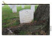 Arlington Tombstone Lodged In Tree Trunk Carry-all Pouch