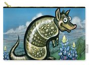 Armadillo N Bluebonnets Carry-all Pouch