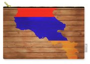 Armenia Rustic Map On Wood Carry-all Pouch