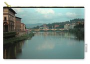 Arno River, Florence, Italy Carry-all Pouch by Mark Czerniec
