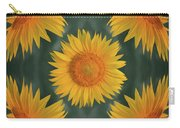 Around The Sunflower Carry-all Pouch