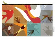Arraygraphy - Birdies Triptych Part2 Carry-all Pouch