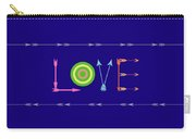 Arrow Love - Changeable Background Color Carry-all Pouch