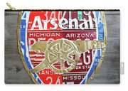 Arsenal Football Team Emblem Recycled Vintage Colorful License Plate Art Carry-all Pouch