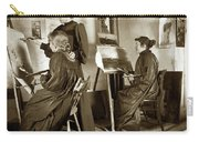 Art Class Oil Painting Teacher  And Art Students 1900 Carry-all Pouch
