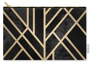 Art Deco Black Carry-all Pouch by Elisabeth Fredriksson