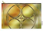 Art Deco Brass 3 Carry-all Pouch