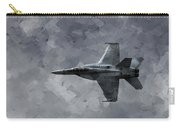 Art In Flight F-18 Fighter Carry-all Pouch by Aaron Lee Berg