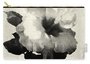 Art Is The Hibiscus -black And White Carry-all Pouch
