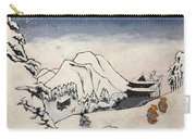 Art Of Buddhism And Shintoism And Two Paths In The Snow Carry-all Pouch