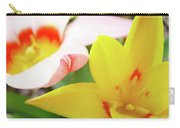 Art Prints Pink Tulip Yellow Tulips Giclee Prints Baslee Troutman Carry-all Pouch