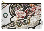 Art Violin And Roses Pearlesqued In Fragments  Carry-all Pouch