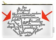 Art Word Cloud 1 Carry-all Pouch