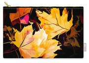 Artful Maple Leaves Carry-all Pouch