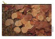 Artfully Scattered Sea Grape Leaves Carry-all Pouch