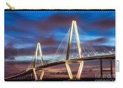 Arthur Ravenel Bridge At Night Carry-all Pouch
