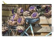 Artichoke Flowers With Bicycle Carry-all Pouch