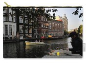 Artist On Amsterdam Canal Carry-all Pouch