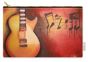 Artistic Guitar With Musical Notes Carry-all Pouch