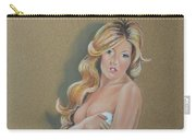Artistic Nude Pin Up Carry-all Pouch by Leida Nogueira