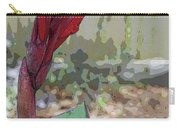 Artistic Red Canna Lily Carry-all Pouch