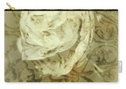 Artistic Vintage Floral Art With Double Overlay Carry-all Pouch
