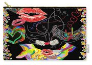 Throwing Kisses And I Love Yous Carry-all Pouch