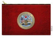 U. S. Army Seal Over Red Velvet Carry-all Pouch