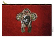 Dan Dean-gle Mask Of The Ivory Coast And Liberia On Red Velvet Carry-all Pouch by Serge Averbukh