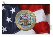 U. S. Army Seal Over American Flag. Carry-all Pouch