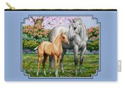 Spring's Gift - Mare And Foal Carry-all Pouch by Crista Forest