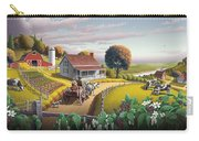 Appalachian Blackberry Patch Rustic Country Farm Folk Art Landscape - Rural Americana - Peaceful Carry-all Pouch