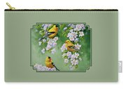 American Goldfinches And Apple Blossoms Carry-all Pouch