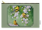 American Goldfinch Spring Carry-all Pouch by Crista Forest