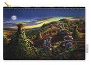 Autumn Farmers Shucking Corn Appalachian Rural Farm Country Harvesting Landscape - Harvest Folk Art Carry-all Pouch