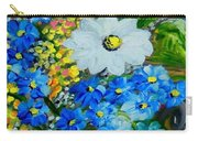 Flowers In A White Vase Carry-all Pouch