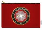 22nd Degree - Knight Of The Royal Axe Jewel On Red Leather Carry-all Pouch