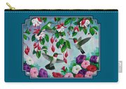 Bird Painting - Hummingbird Heaven Carry-all Pouch by Crista Forest