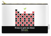 Every No Gets Me Closer Typography Art Inspirational Quotes Poster Carry-all Pouch