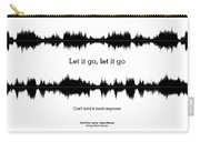 Let It Go - Music And Motivational  Typography Art Poster Carry-all Pouch