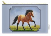 Buckskin Horse - Morning Run Carry-all Pouch by Crista Forest