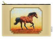 Running Horse - Evening Fire Carry-all Pouch by Crista Forest
