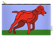 Cartoon Romping Miniature Apricot Poodle Carry-all Pouch