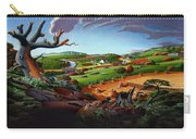Appalachian Fall Thanksgiving Wheat Field Harvest Farm Landscape Painting - Rural Americana - Autumn Carry-all Pouch