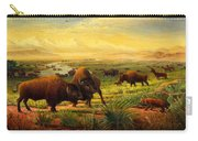 Buffalo Fox Great Plains Western Landscape Oil Painting - Bison - Americana - Historic - Walt Curlee Carry-all Pouch