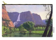 Mountains Waterfall Stream Western Mountain Landscape Oil Painting Carry-all Pouch