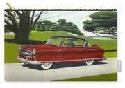 1953 Nash Rambler Car Americana Rustic Rural Country Auto Antique Painting Red Golf Carry-all Pouch